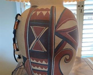Hand Painted Native American Lamp