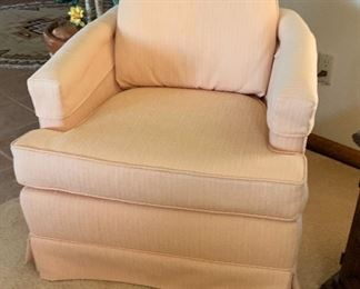 1 Vintage Upholstered Accent Chair  #127x28x29inHxWxD