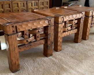 ▪Rustic Hammered Wood Custom End Table #122 x 28 x 24HxWxD ▪Rustic Hammered Wood Custom End Table #222 x 28 x 24HxWxD ▪Rustic Hammered Wood Custom End Table #322 x 28 x 24HxWxD