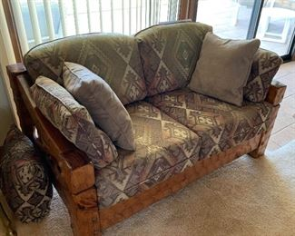 Rustic Hammered Wood Custom Loveseat/Couch31 x 54 x 33
