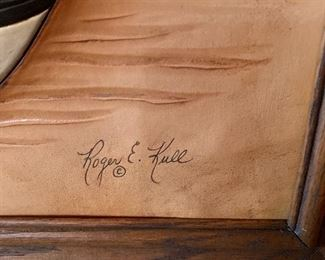 Roger and Marie Kull Carved Leather Art #220x16in