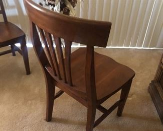 Cherry wood dining chair  #2 of 2