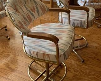 2 Padded Counter Heights Stools/Chairs PAIR38x22x19in seat height 25in HxWxD