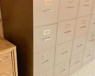 SIX 4-Drawer Industrial File Cabinets52x15x28inHxWxD Buy one or all!