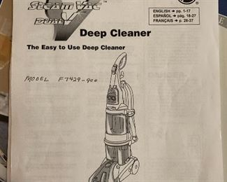 Hover Steam Vac Carpet Cleaner F7429-900