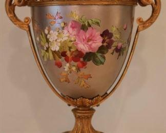 Bronze dore mounted porcelain vase (no lid)
