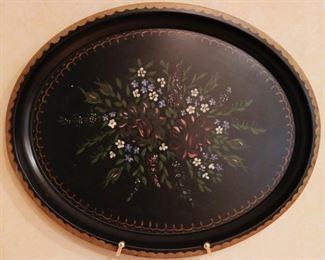 vintage toleware trays & plaques