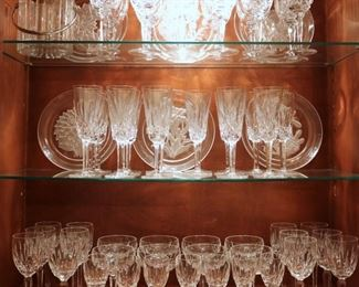 Waterford, Baccarat, Hoya, and others.