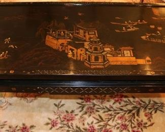 Lacquered chinoiserie coffe table
