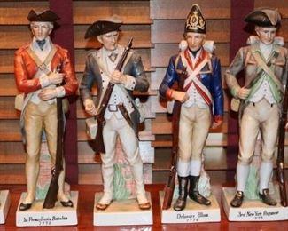 porcelain Revolutionary War Soldiers