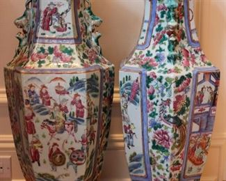 Large Pair Chinese vases