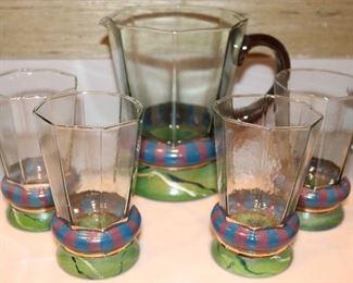 Mackenzie Childs glass set