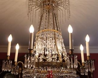19th century Russian Empire crystal chandelier