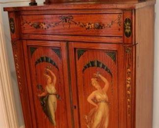 Edwardian painted cabinet