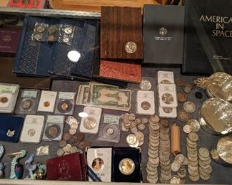 American gold and silver coins