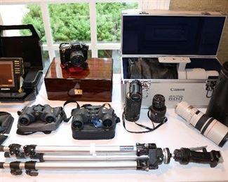 Camera and Fishing Equipment