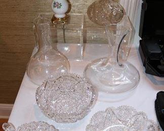 Cut Glass & Reidel Decanters
