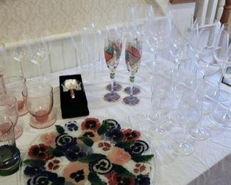 Glassware, Peggy Carr, etc