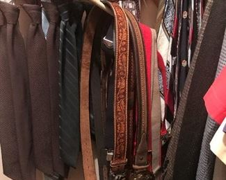 Belts and ready to go ties.