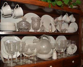 Nice China Sets, Fostoria Glass, Glassware, Stemware