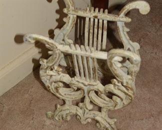 Antique Cast Iron Sheet Music Stand