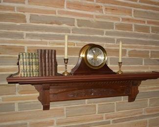 Antique Victorian Walnut Eastlake Shelf, Antique Books