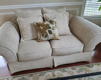 "Comfortable Fabric Love Seat 72"" W x 40"" D x 28"" T"