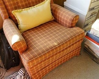 """Comfortable Fabric Chair 34"""" W x 35"""" D x 32"""" T"""