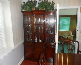 "Beautiful Mahogany China Cabinet 50"" W x 16"" D x 77"" T"