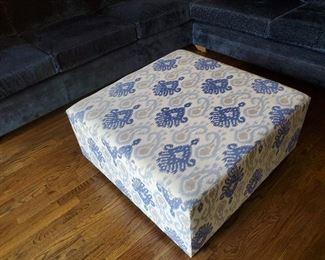 "Mid Century Fabric Ottoman/ Coffee table 36"" W x 36"" D x 17.5"" T"