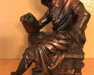 metal John Milton bookend
