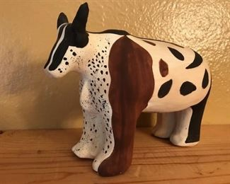 Ecuadorian folk art cow figurine
