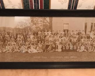 Commercial High School 1929 antique photo (center)