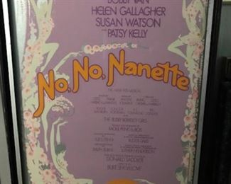 No,  No, Nanette  framed Broadway poster