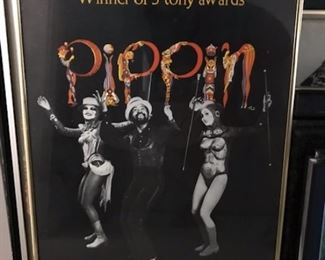 Pippin framed Broadway poster