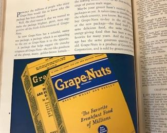 GrapeNuts ad from Good Housekeeping (1930)