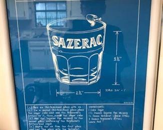 Sazerac framed poster