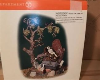dept 56 halloween haunted graveyard