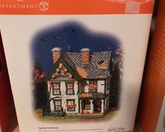 dept 56 halloween spooky farmhouse