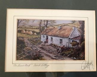 the homestead Irish cottage print