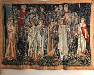 Medieval style lords & ladies tapestry (7' w x 5' l)