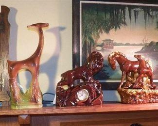 Mid century items & Florida painting
