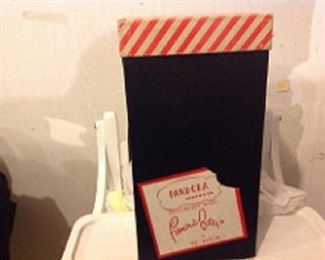 famous barr shoe box, gloves and hats, Vanity sets