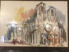 brother mel print 1958 Cathedral and signed by him