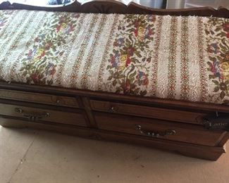 Beauty of a hope/cedar chest with padded material on top
