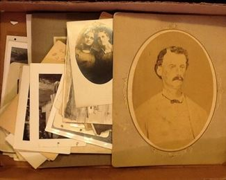 old photos loose and framed