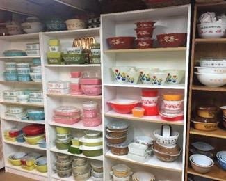 Vintage Pyrex MANY Patterns Still unpacking, more, All Pyrex and Fire King CLEAN, No chips or cracks on dishes, scratches on lids roughness and I have found a few chips on lids, great collection for vintage.