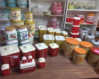 Numerous canister collections