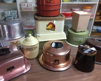 Bread boxes, to cake carriers, cookie jars
