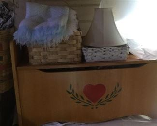 great wooden toy box, or linen holder